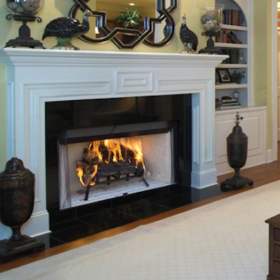 Craftsman wood burning fireplace by astria for Astria fireplace