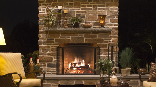 Plantation Wood Burning Fireplace By Astria