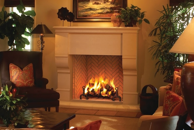 Plantation Wood Burning Fireplace by Astria