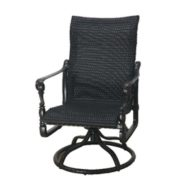 Grand Terrace Woven Swivel Rocker