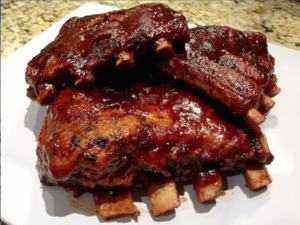 SUCKLE BUSTERS PEACH BBQ RIBS