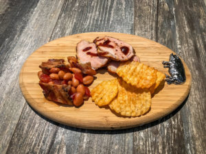 Peppered Pork Tenderloin With Honey Apple Baked Beans