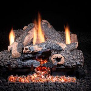 Charred Bonfire Ventless Gas Logs
