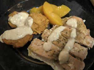Peachy salmon & Sweet Potato Biscuits