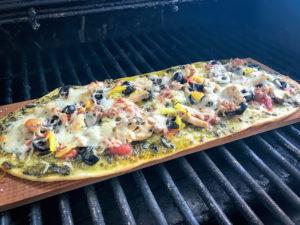 Cedar Plank Flat Bread Pizza