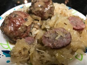 German Meatballs Over Rice